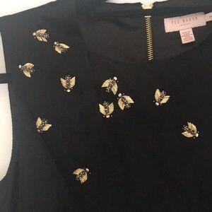Ted Baker Black Velvet Bee Dress